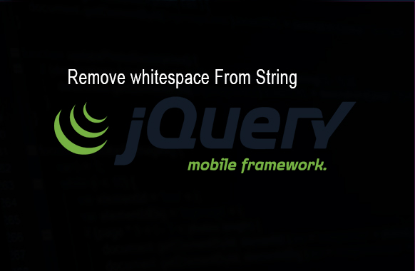 Remove whitespace From String