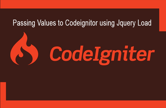Passing values to the controller in the Codeigniter