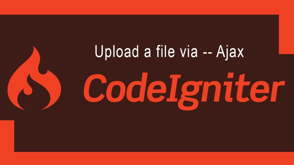 upload a file codeignitor